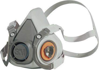 Mascherina riutilizzabile respiratore a semimaschera 3M 6000 6000L senza filtro Taglia dim L