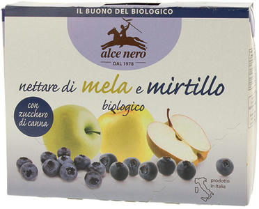 Nettare di mela e mirtillo - in brick, Alce nero, 3x200 ml