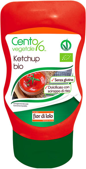 Ketchup squeeze, Cent%vegetale, 290 gr