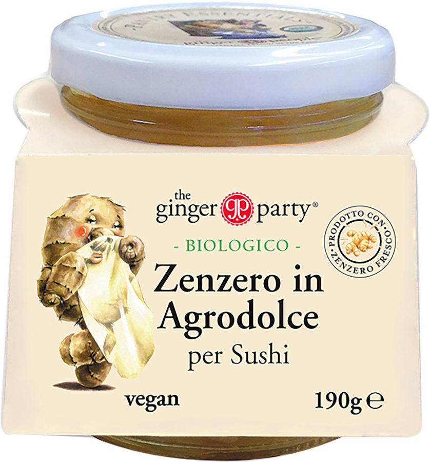 Zenzero in agrodolce per sushi, Ginger party, 190 gr