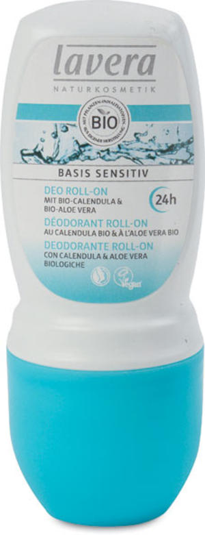 Basis sensitiv - deodorante roll-on, Lavera, 50 ml
