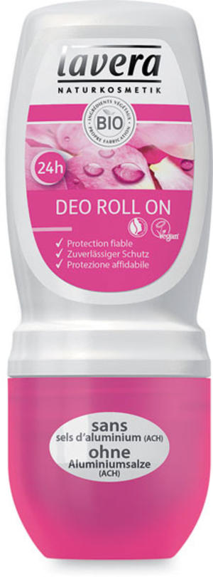 Body - deodorante roll-on rosa, Lavera, 50 ml