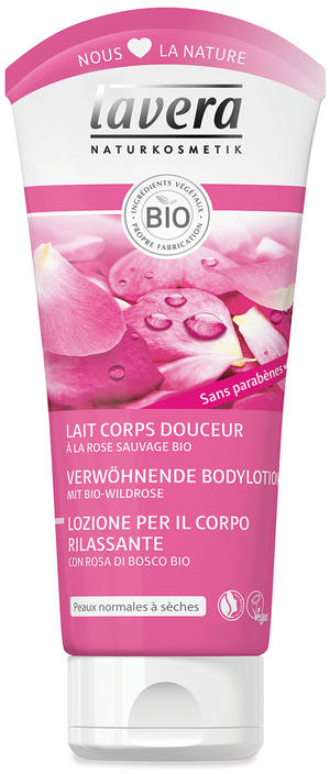 Body - lozione corpo rosa di bosco, Lavera, 200 ml