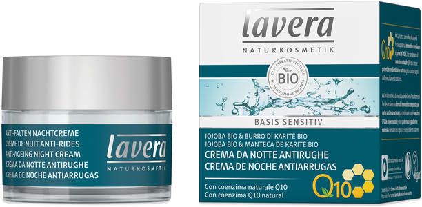 Basis sensitiv - anti age crema notte q10, Lavera, 50 ml