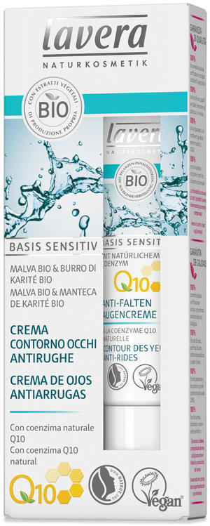 Basis sensitiv - anti age crema contorno occhi q10, Lavera, 15 ml