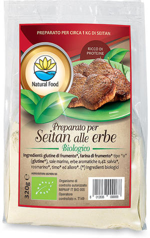 Preparato per seitan alle erbe, Natural food, 320 gr