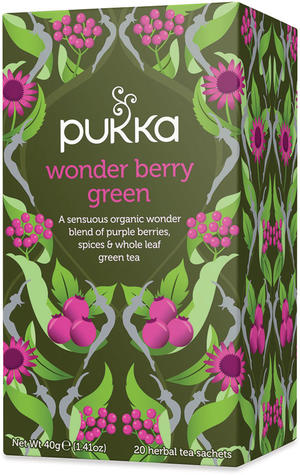 Tè verde - wonder berry green, Pukka, 40 gr
