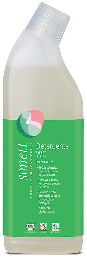 Detergente wc menta e mirtillo liquido, Sonett, 750 ml