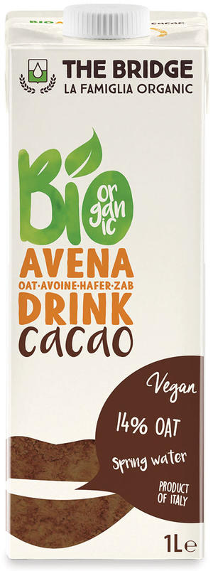 Bio avena drink al cacao, The bridge, 1 L