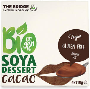 Bio soya - dessert di soia al cacao, The bridge, 4x110 gr