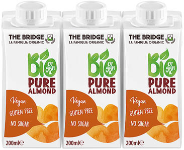Bio mandorla 6% drink senza zucchero, The bridge, 3x200 ml