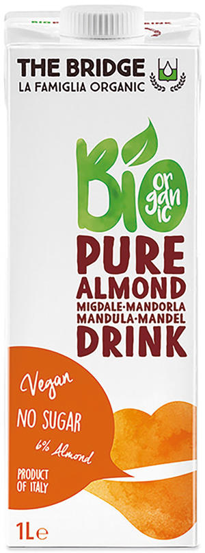 Bio mandorla 6% drink senza zucchero, The bridge, 1 L