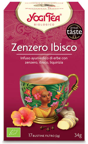 Yogi tea zenzero ibisco, Yogi tea, 34 gr
