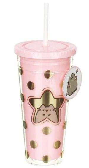 Pusheen - Drinking cup with straw