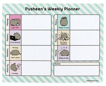 Pusheen - Weekly planner