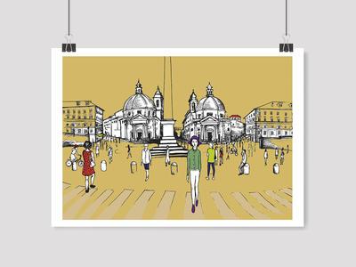 Studiovagante - Stampa Piazza del Popolo
