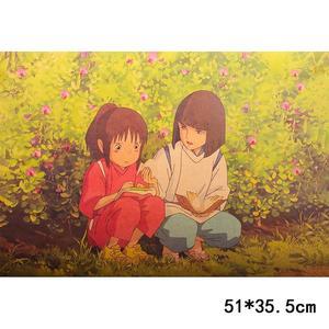 Poster Film Miyazaki: SPIRITED AWAY (LA CITTÀ INCANTATA), CHIHIRO AND HAKU MEETING IN THE FLOWER FIELD