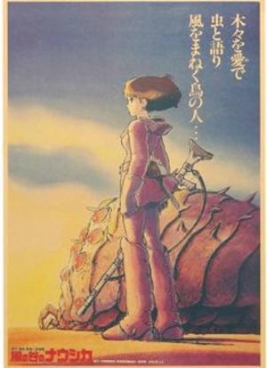 Poster Film Miyazaki: NAUSICAA OF THE VALLEY OF THE WIND