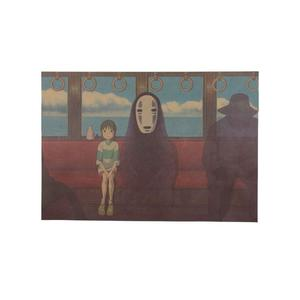Poster Film Miyazaki: SPIRITED AWAY (LA CITTÀ INCANTATA), SEN AND NO FACE ON THE TRAIN