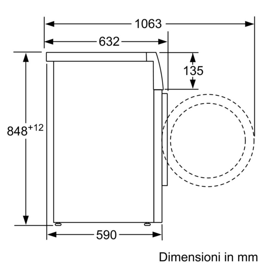 BOSCH Lavatrice 8 Kg WAT24488IT Serie 6 1200G A+++ -30% - Motore Inverter
