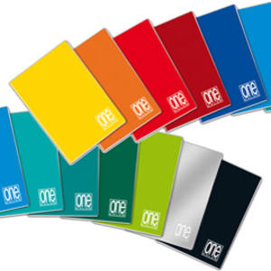 QUADERNONE ONE COLOR FORMATO A4 A RIGHE CON MARGINE