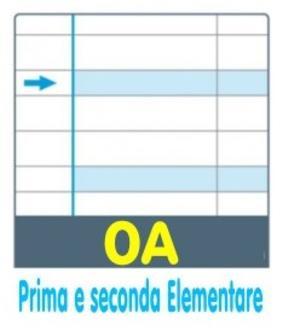 QUADERNO ONE COLOR DIDATTICO A4 RIGATURA 0A PER DISGRAFIA