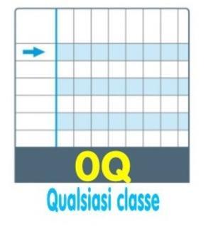 QUADERNO ONE COLOR DIDATTICO A4 RIGATURA 0Q PER DISGRAFIA - quadri 5 millimeti