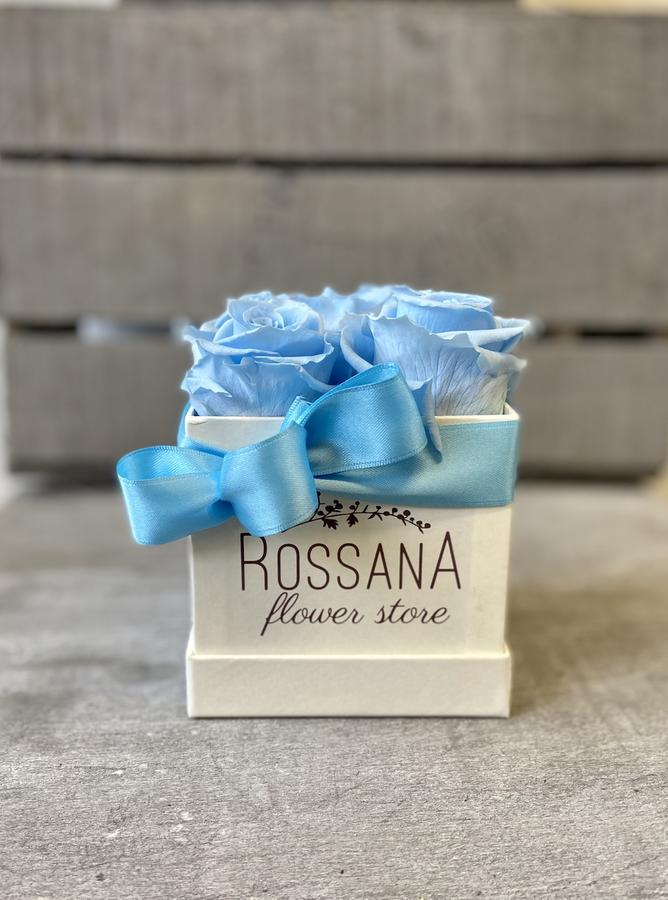 FLOWER BOX Q5 Rossana Collection AZZURRO