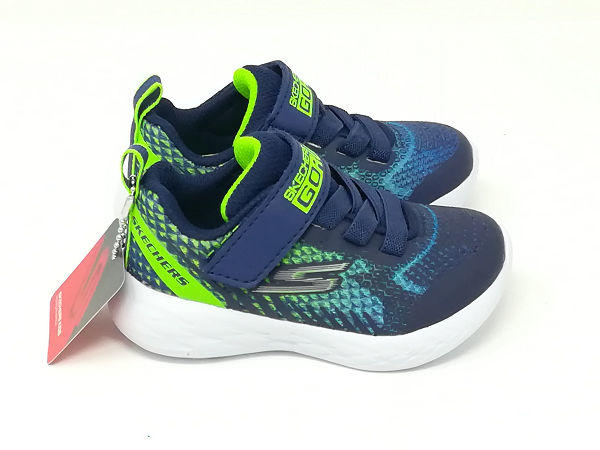 Go Run Kids  Blu/Lime - SKECHERS