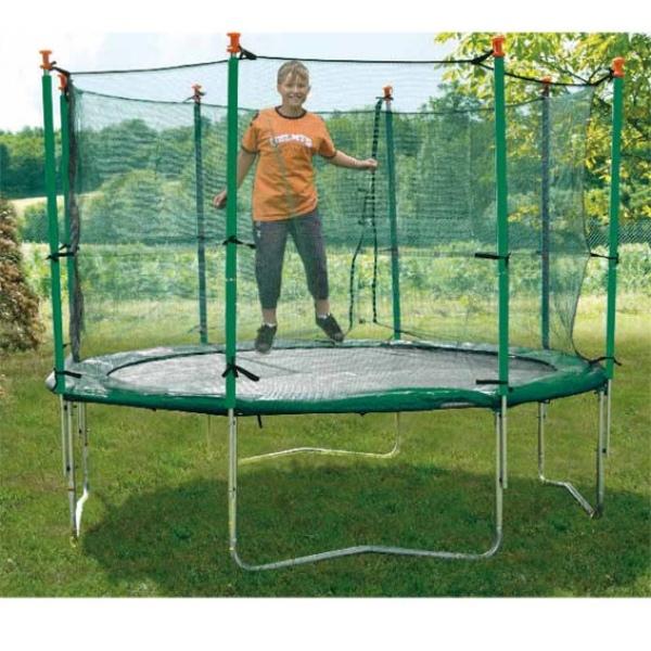 Tappeto elastico con rete protettiva per esterno mod. 300 Jump 41530