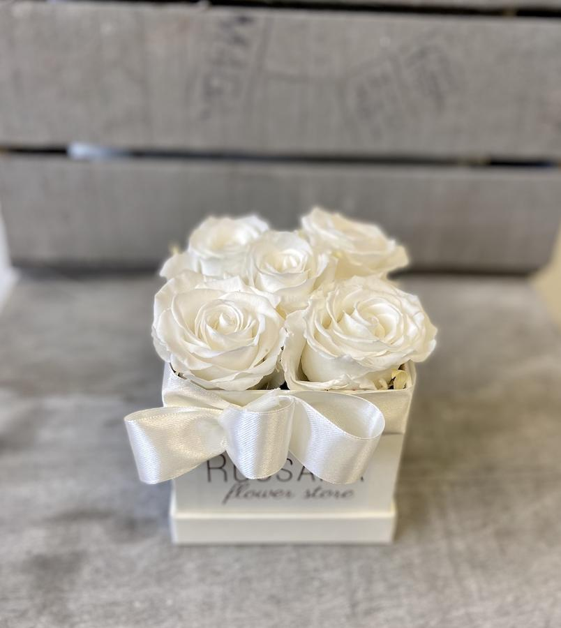 FLOWER BOX Q5 Rossana Collection BIANCO