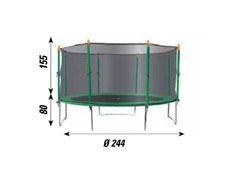 Tappeto elastico con rete protettiva per esterno mod. 250 Jump 41524