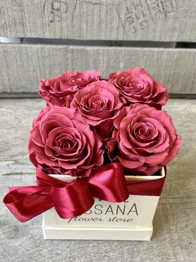 FLOWER BOX Q5 Rossana Collection CRANBERRY