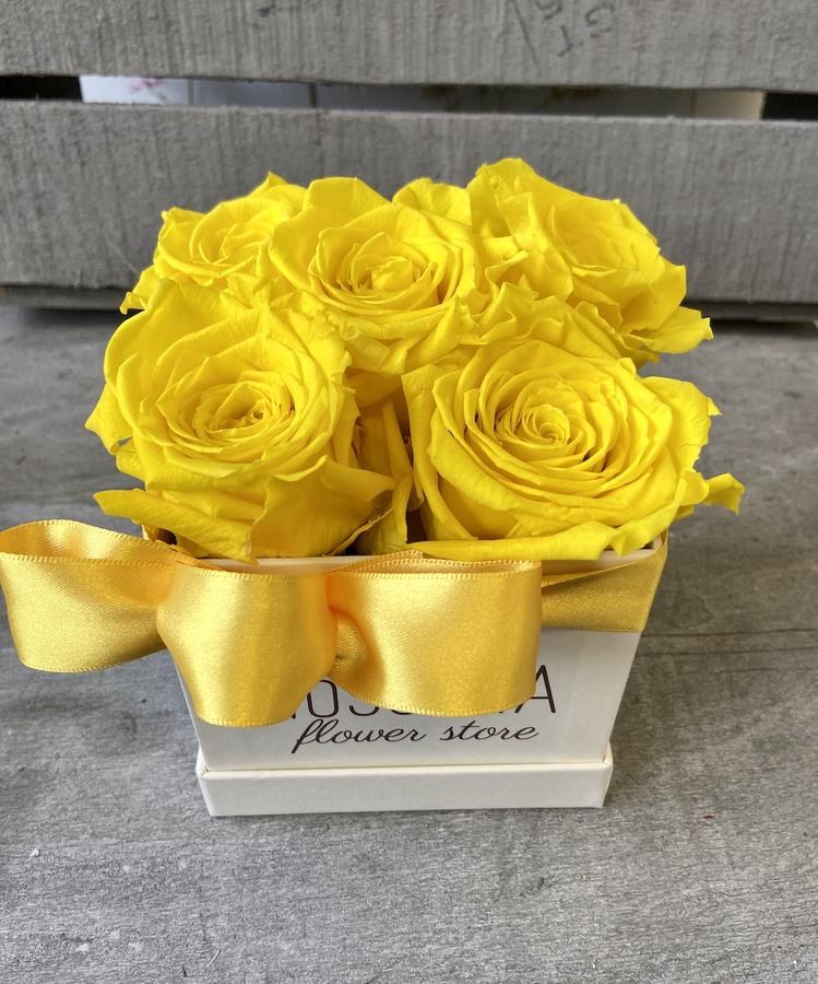 FLOWER BOX Q5 Rossana Collection GIALLO