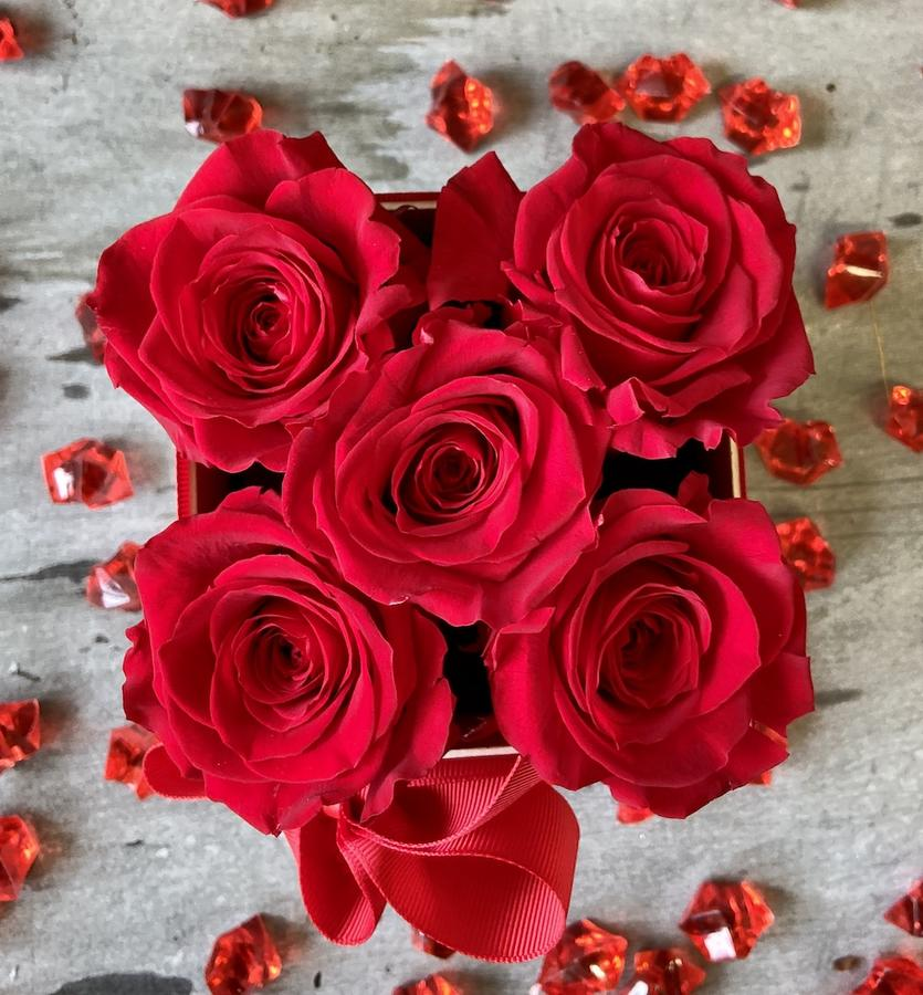 FLOWER BOX Q5 Rossana Collection ROSSO