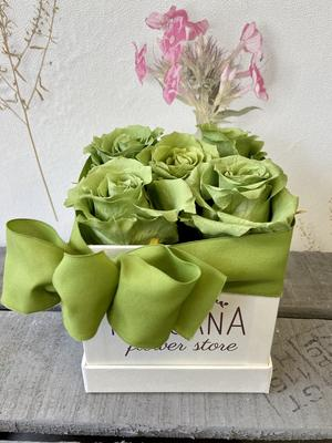 FLOWER BOX Q5 Rossana Collection VERDE