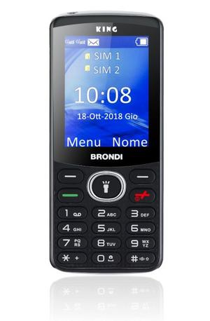 CELLULARE BRONDI KING TASTI GSM QUAD BAND DISPLAY