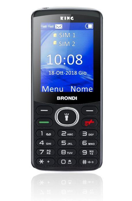 CELLULARE BRONDI KING TASTI GSM QUAD BAND DISPLAY