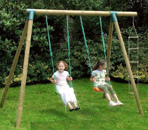 Set giochi giardino 2 altalene scala mod fiordaliso cod als1349 - Altalena da giardino per bambini ...
