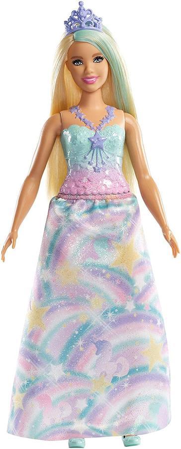 Barbie Dreamtopia Principessa Bionda con Abito Blu e Tiara - Mattel FXT14 - 3+ anni