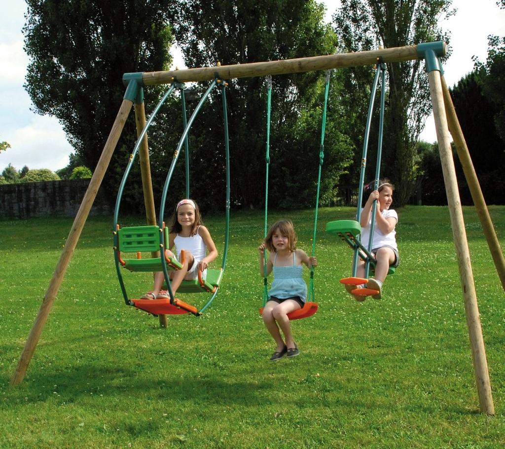 Set giochi giardino 2 altalene cavalluccio dondolo - Amazon dondolo da giardino ...