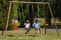 Set altalena TULIPANO per bambini giochi giardino 2 altalene + cavalluccio + dondolo TULIPANO cod.ALS1353