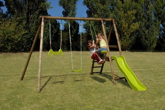 Set giochi giardino altalena in legno cavalluccio for Set giardino legno