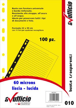 Buste forate universale A4 WH60LIS100 AVUFFICIO