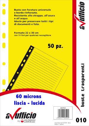 Buste forate universale A4 WH60LIS50 AVUFFICIO
