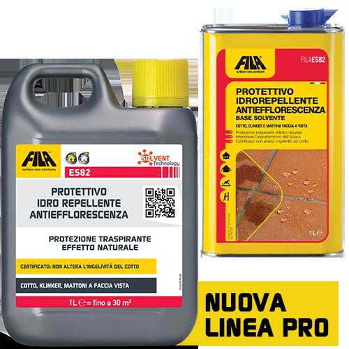 Protettivo idrorepellente FILA ES82 impermeabilizzante Antiefflorescenza per cotto clinker e mattoni 1 LT