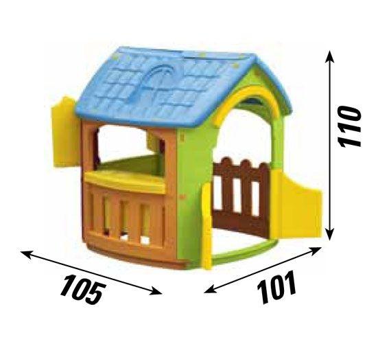 Casetta da giardino casa per bambini alta 120 cm CHEF cod.CP1392