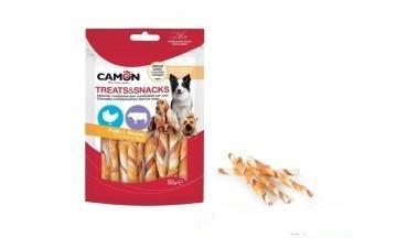 Camon AE024 Snack Per Cani Bastoncini Involtini Pollo Bovino Maiale