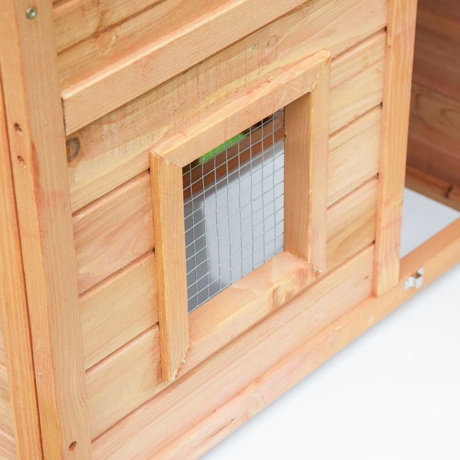 Conigliera da Esterno - Gabbia Casetta per Conigli in Legno 146 x 63 x 120 cm