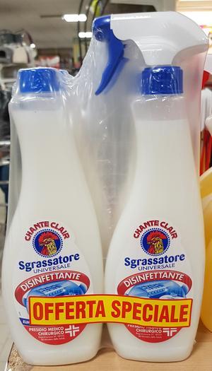 Sgrassatore  Disinfettante Chanteclair 625 ml + Ricarica